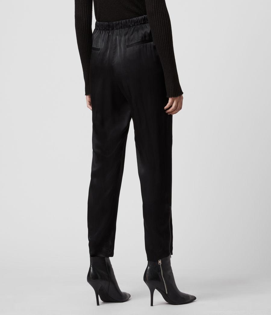 Women's Liana Mid-Rise Trousers (black) - Image 5