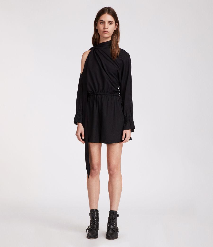Women's Neela Playsuit (black) - Image 2
