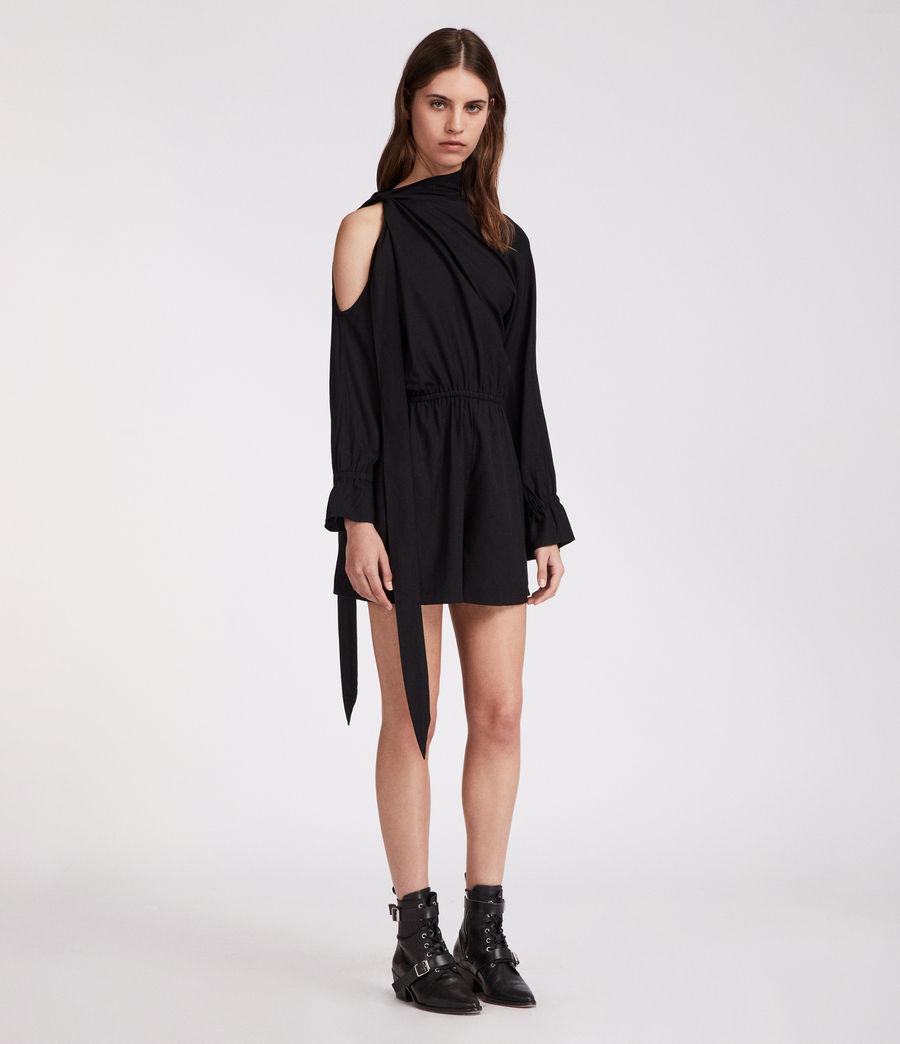 Women's Neela Playsuit (black) - Image 3