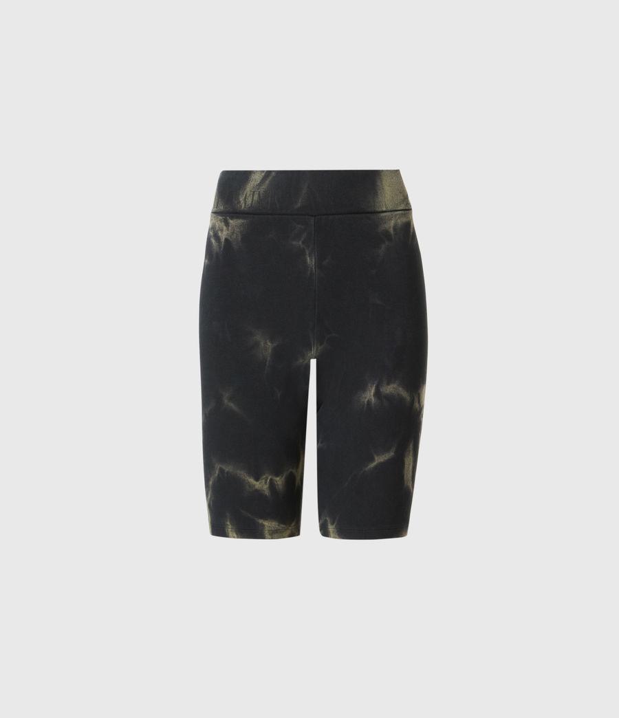 Damen Jamie Tie Dye Bike Shorts (black_khaki_green) - Image 2