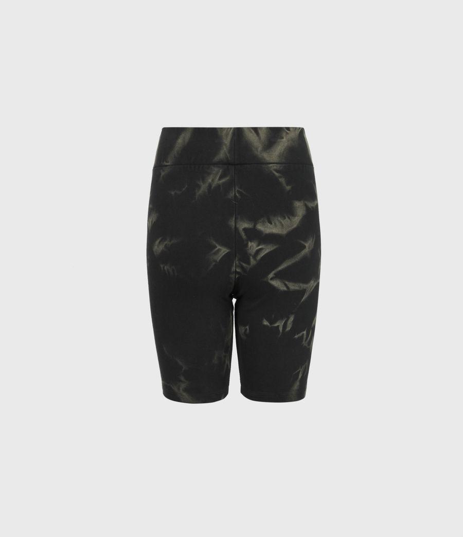 Damen Jamie Tie Dye Bike Shorts (black_khaki_green) - Image 3