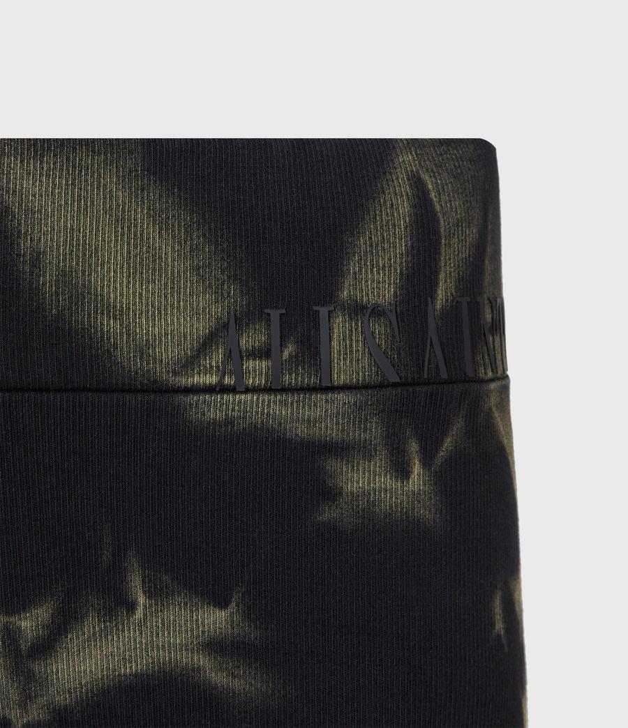Damen Jamie Tie Dye Bike Shorts (black_khaki_green) - Image 5
