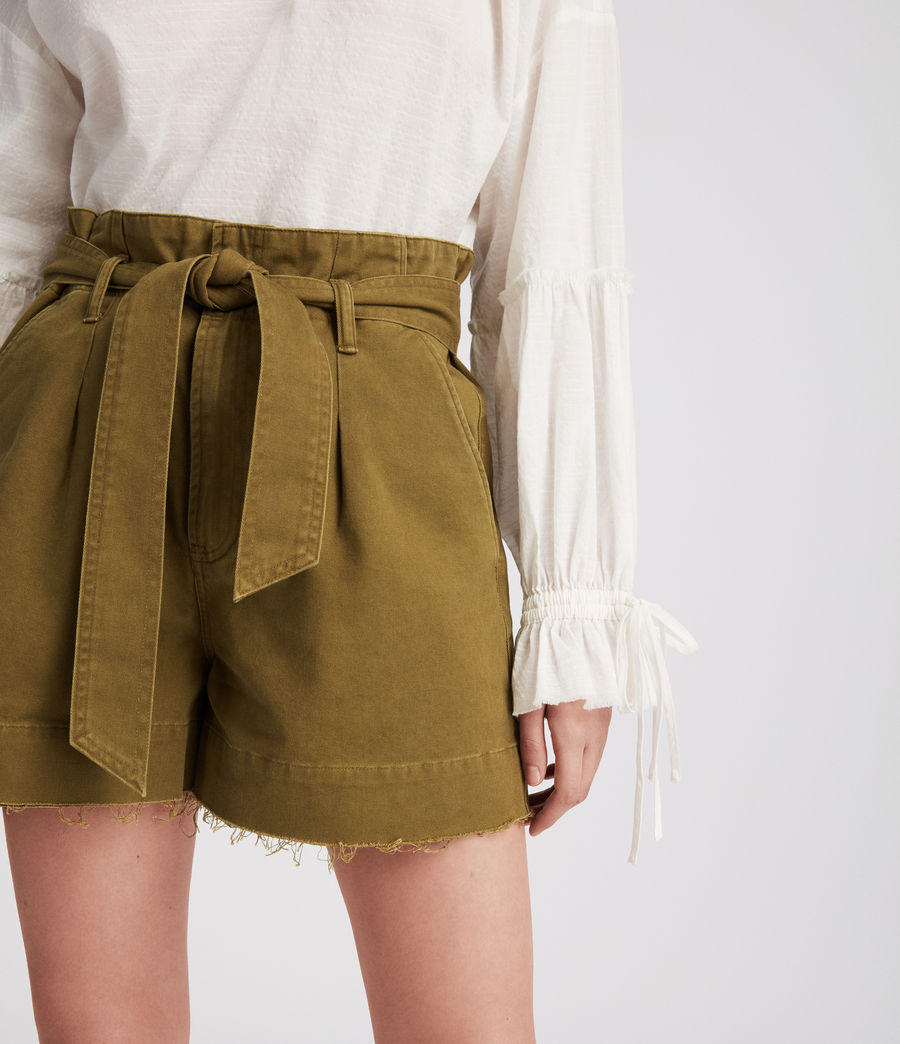 Women's Cala Shorts (khaki_green) - Image 3