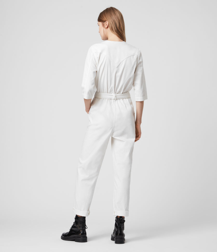 Women's Lora Denim Jumpsuit (chalk_white) - Image 5