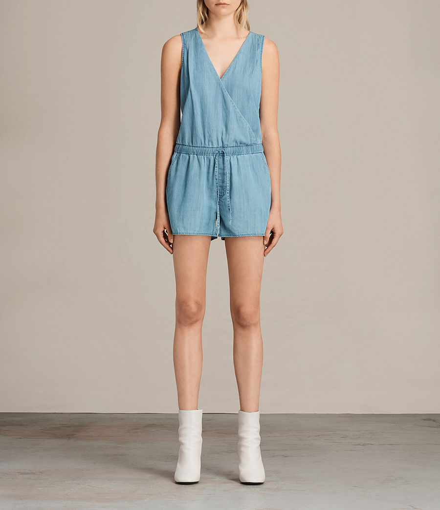 Femmes Combi-Short Penny (light_indigo_blue) - Image 1