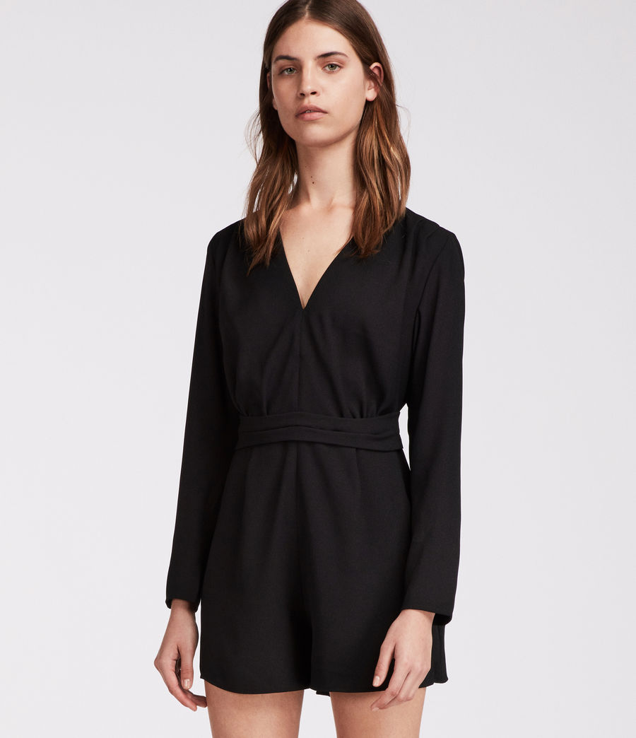 Womens Karine Playsuit (black) - Image 1