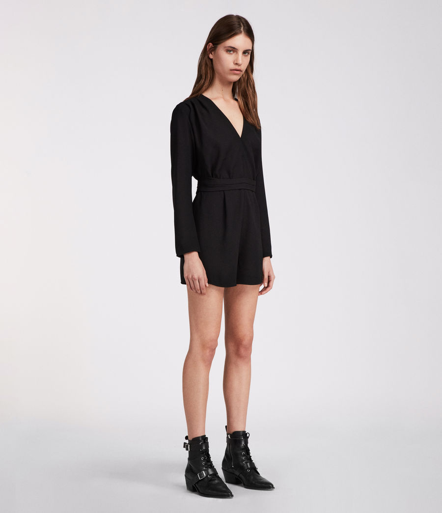 Womens Karine Playsuit (black) - Image 2