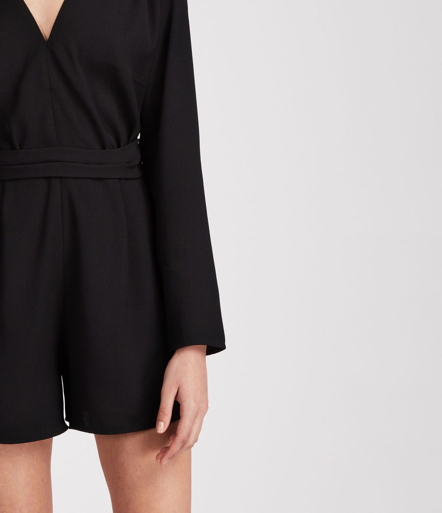 Womens Karine Playsuit (black) - Image 3