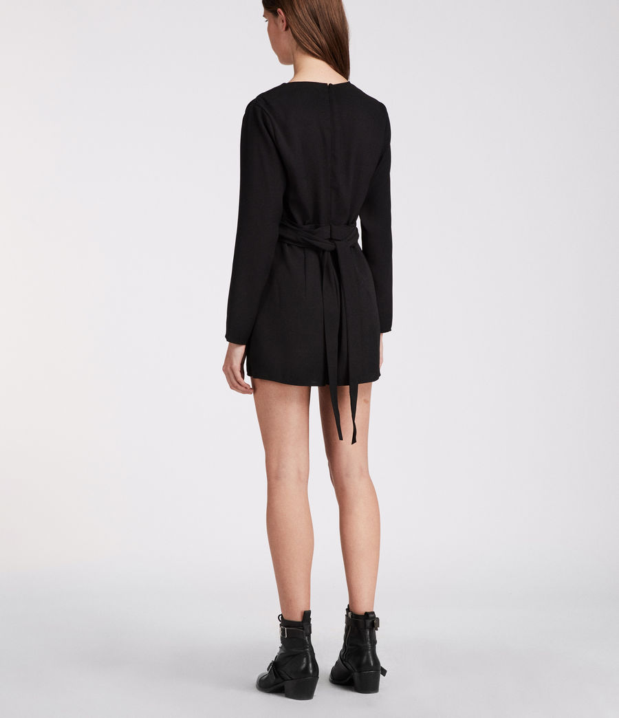 Womens Karine Playsuit (black) - Image 4