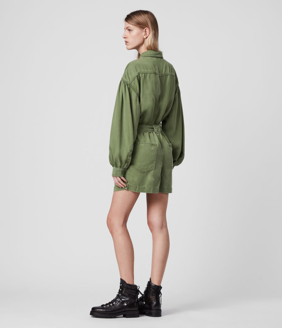 Mujer Jess Denim Playsuit (khaki_green) - Image 6