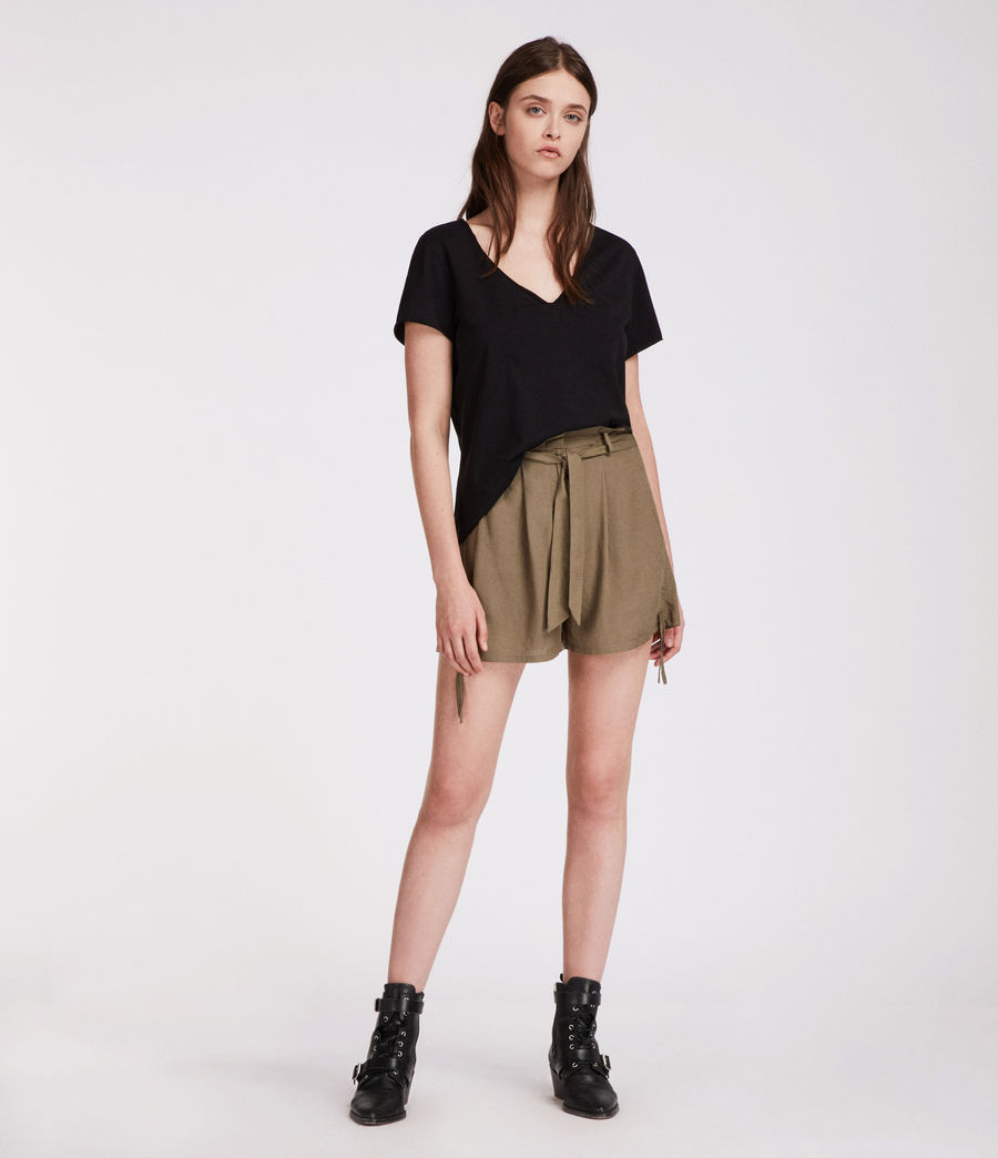 Womens Amara Shorts (khaki_green) - Image 1