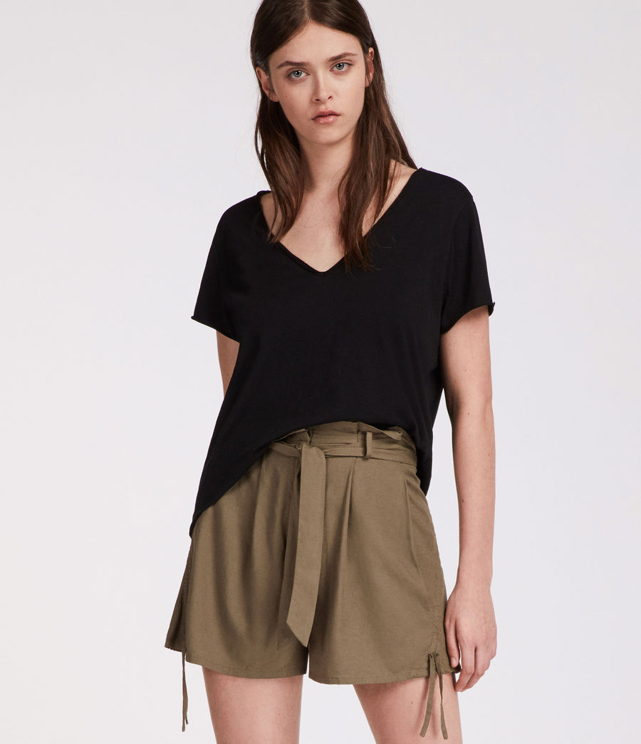 Womens Amara Shorts (khaki_green) - Image 2