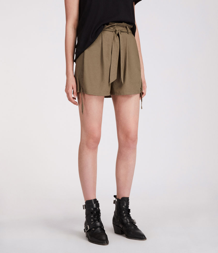 Womens Amara Shorts (khaki_green) - Image 3