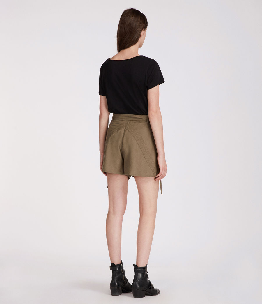 Womens Amara Shorts (khaki_green) - Image 4