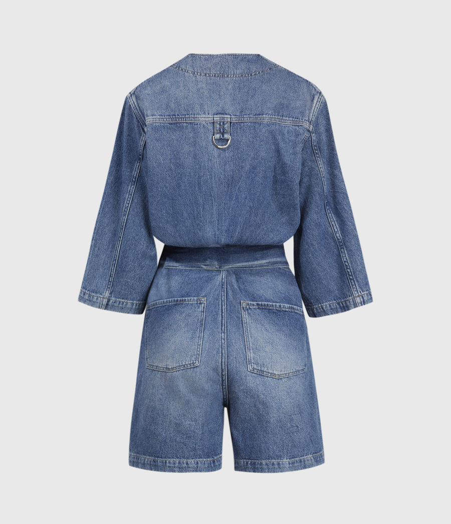 Womens Abbey Denim Romper (indigo_blue) - Image 3