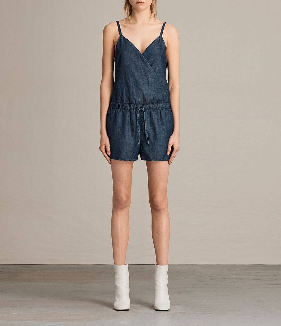 Women's Joanna Playsuit (dark_indigo_blue) - Image 1