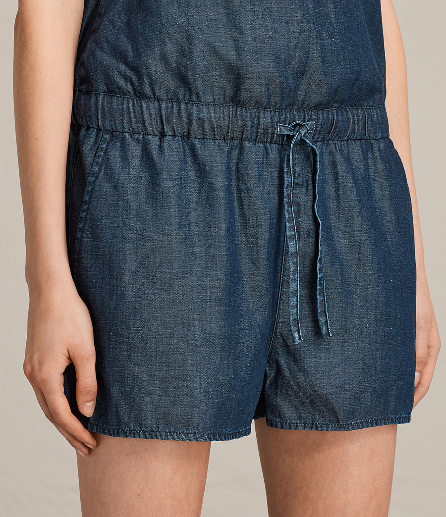 Women's Joanna Playsuit (dark_indigo_blue) - Image 2