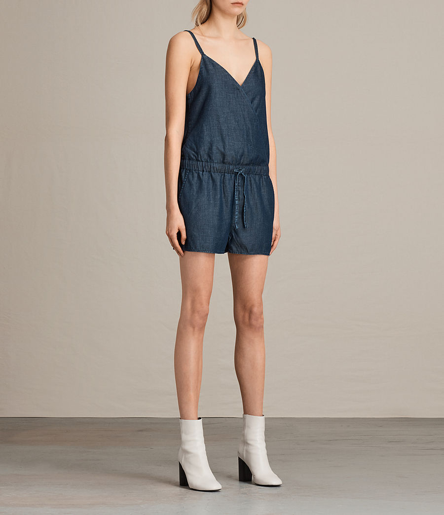Women's Joanna Playsuit (dark_indigo_blue) - Image 3