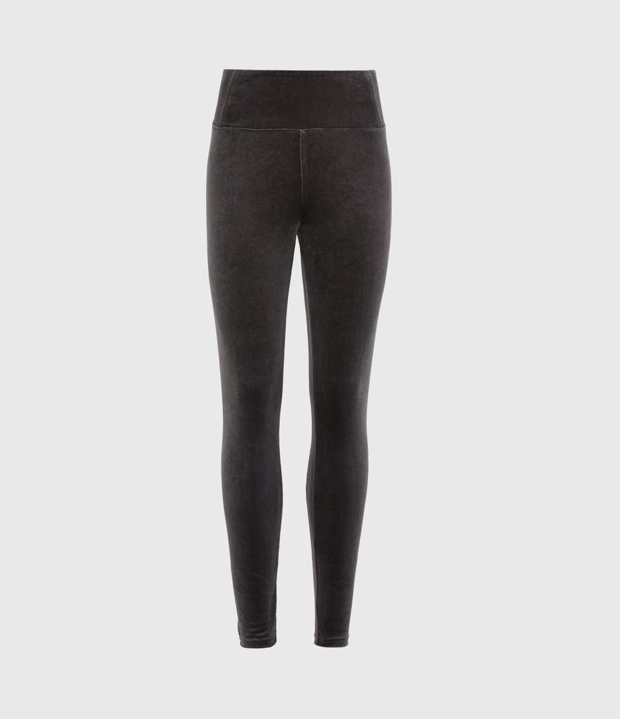 Womens Cora Velvet High-Rise Leggings (dark_grey) - Image 2