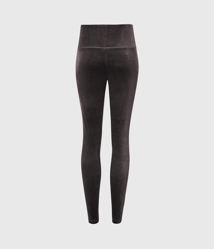 Womens Cora Velvet High-Rise Leggings (dark_grey) - Image 3