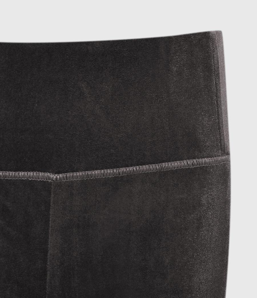 Womens Cora Velvet High-Rise Leggings (dark_grey) - Image 4