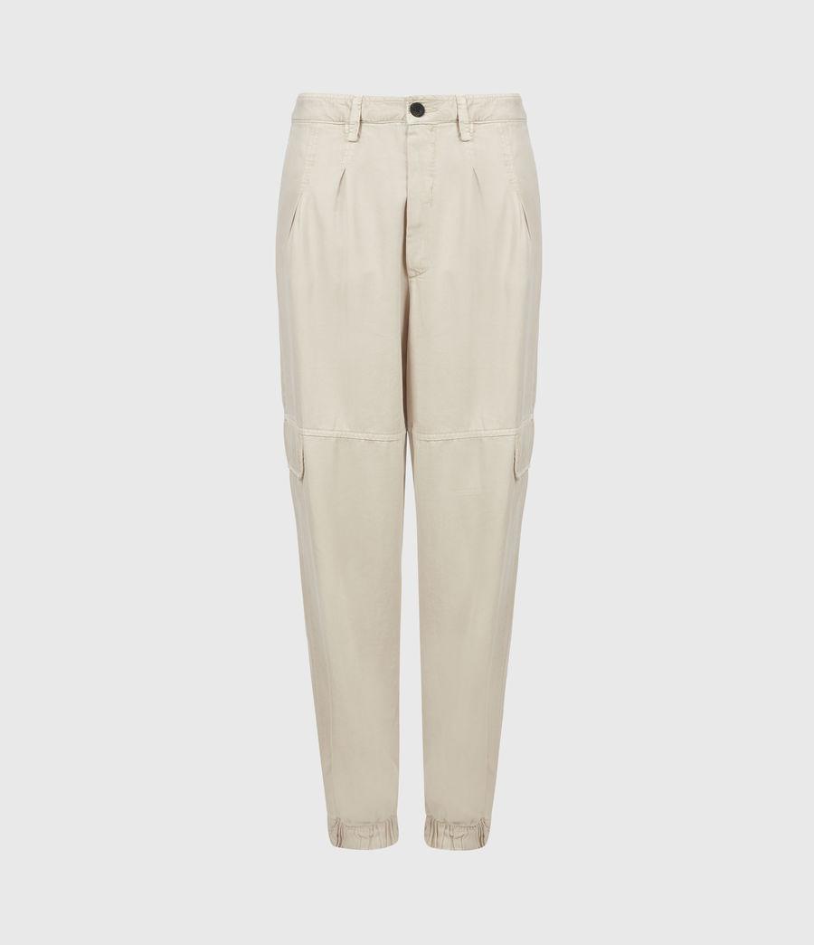 Women's Lira High-Rise Trousers (stone_white) - Image 2