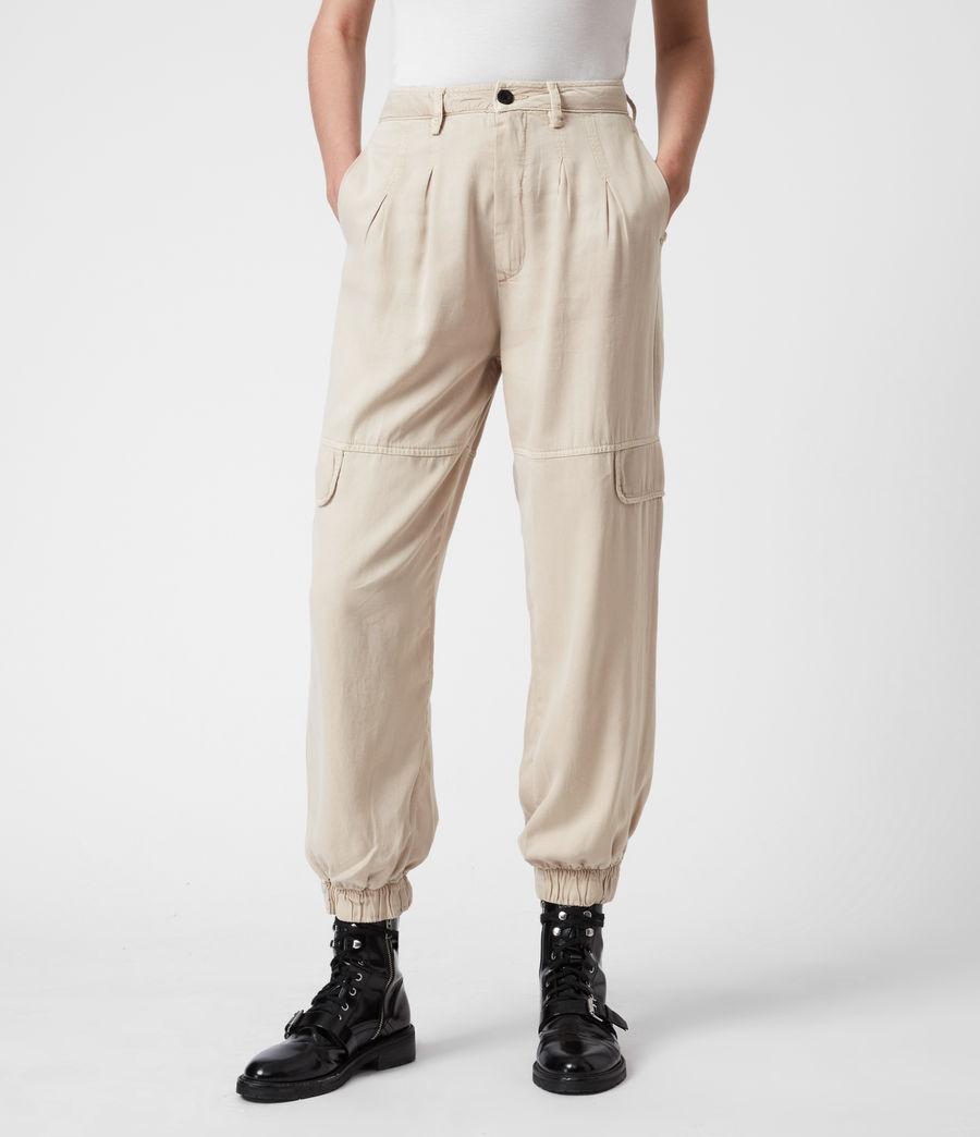 Women's Lira High-Rise Trousers (stone_white) - Image 4