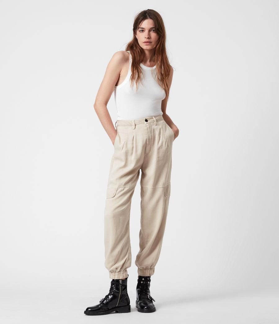 Women's Lira High-Rise Trousers (stone_white) - Image 6