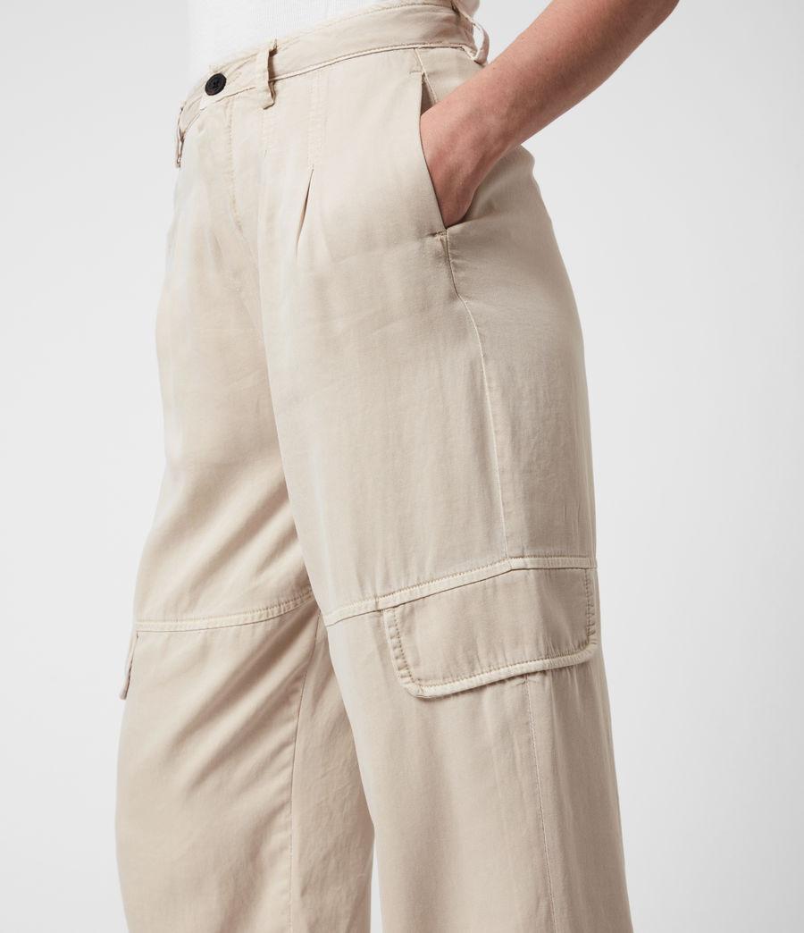 Women's Lira High-Rise Trousers (stone_white) - Image 7