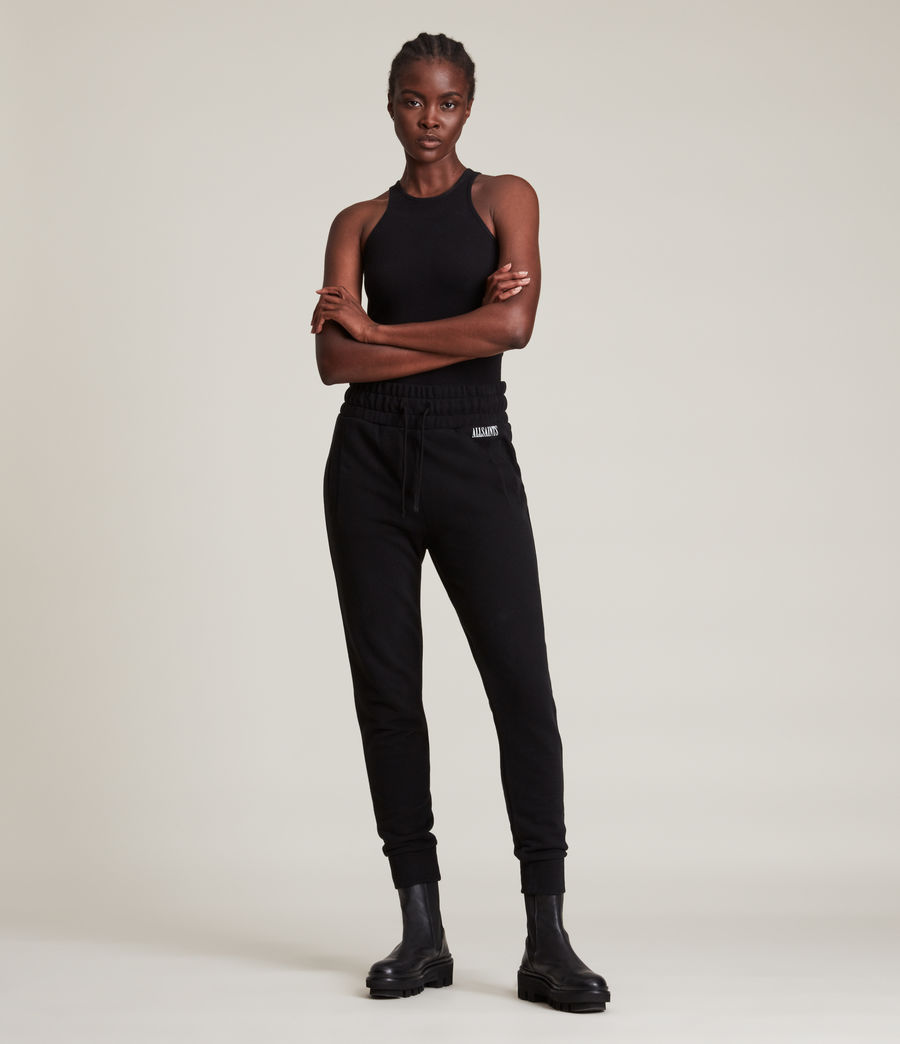 Womens Alden Relaxed Cuffed Sweatpants (black) - Image 1