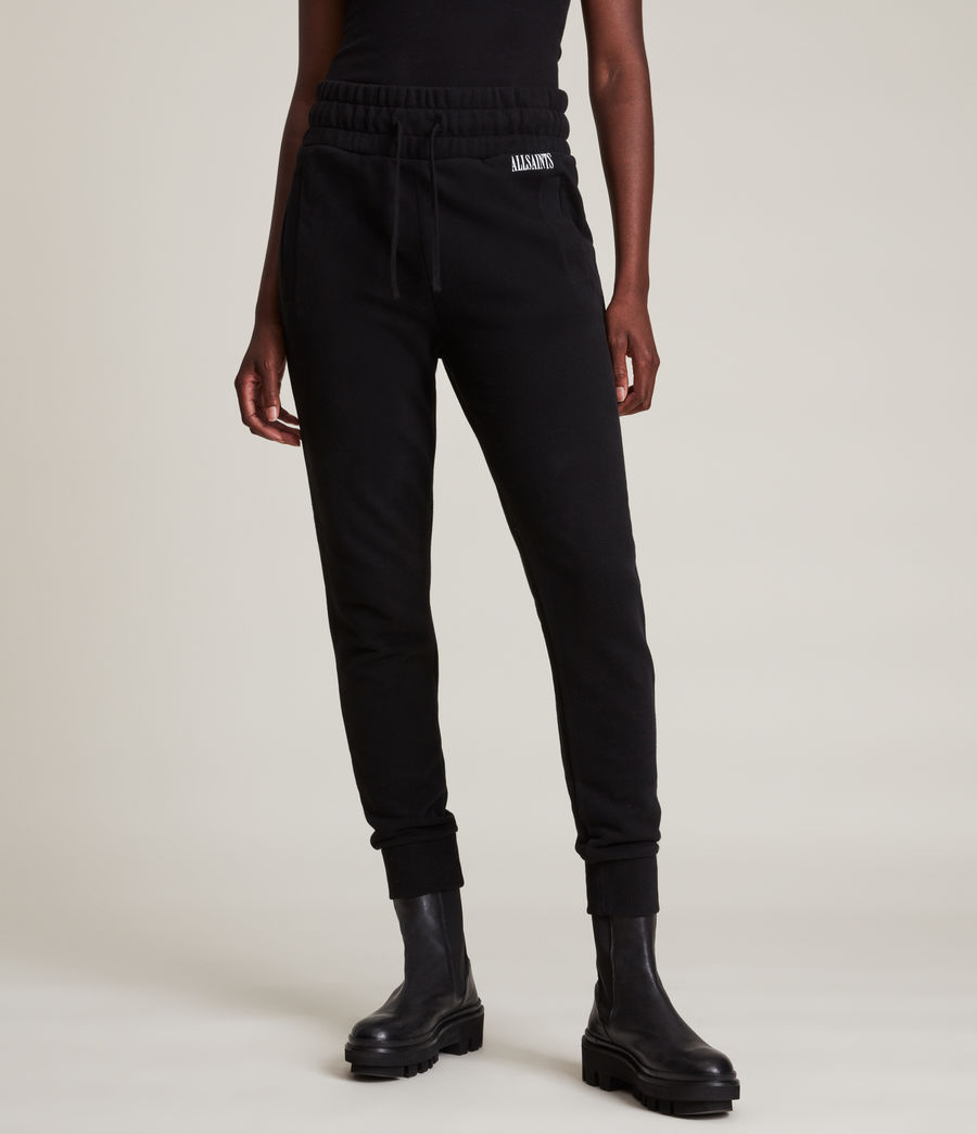 Womens Alden Relaxed Cuffed Sweatpants (black) - Image 2