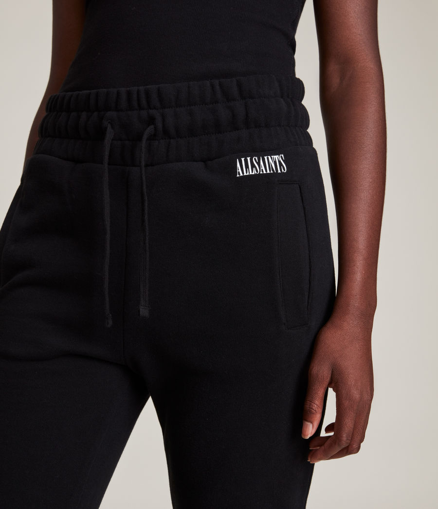 Womens Alden Relaxed Cuffed Sweatpants (black) - Image 3