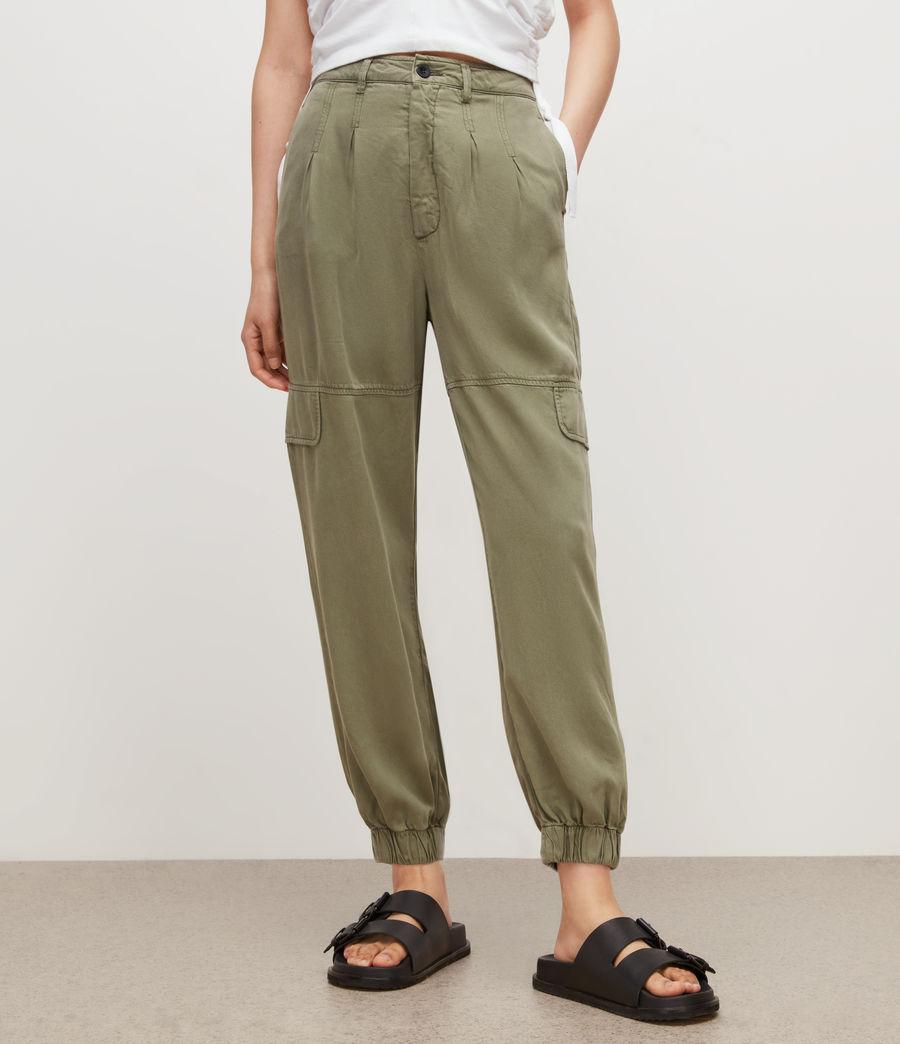 Women's Lira High-Rise Trousers (khaki_green) - Image 2