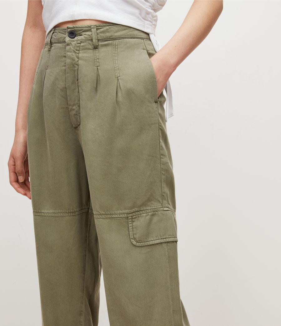 Women's Lira High-Rise Trousers (khaki_green) - Image 3
