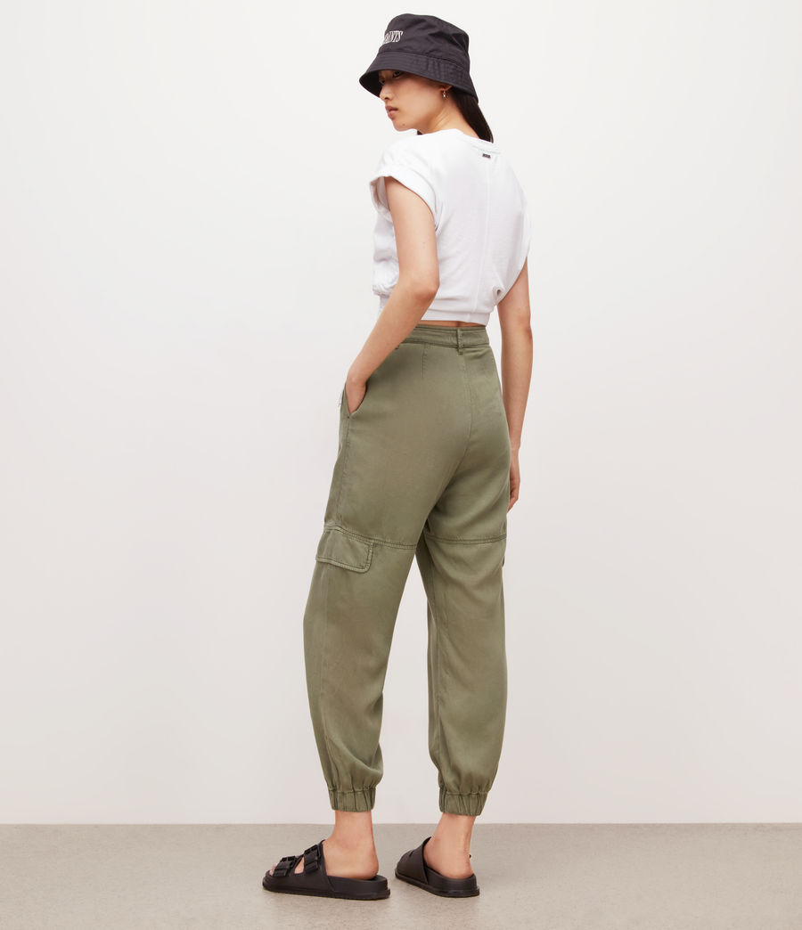 Women's Lira High-Rise Trousers (khaki_green) - Image 5