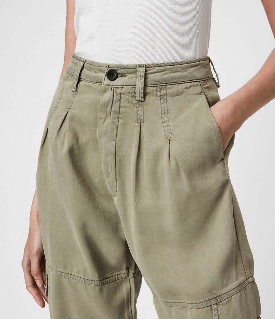 Women's Lira High-Rise Trousers (khaki_green) - Image 6