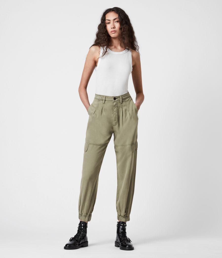 Women's Lira High-Rise Trousers (khaki_green) - Image 7