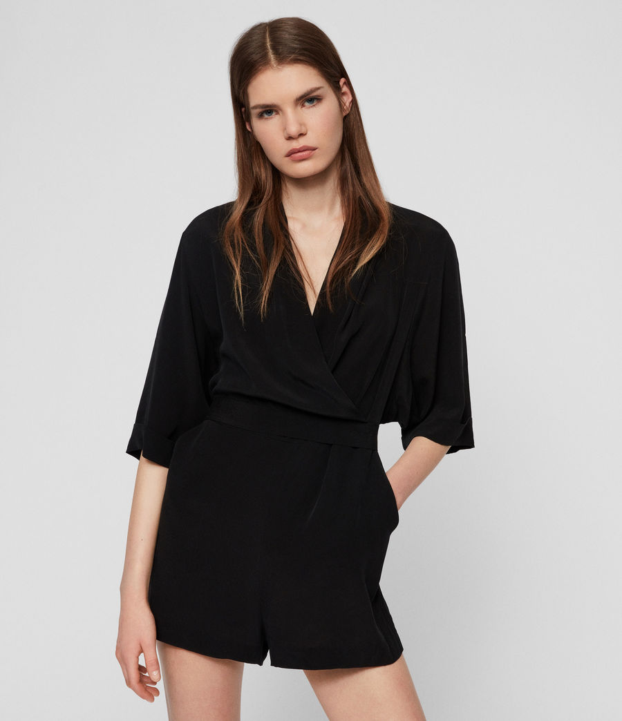 Women's Laurel Playsuit (black) - Image 1