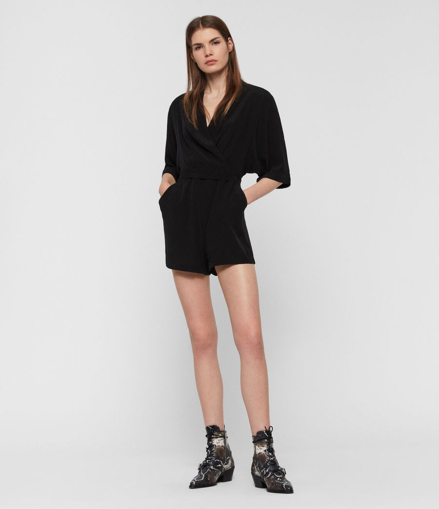 Women's Laurel Playsuit (black) - Image 2