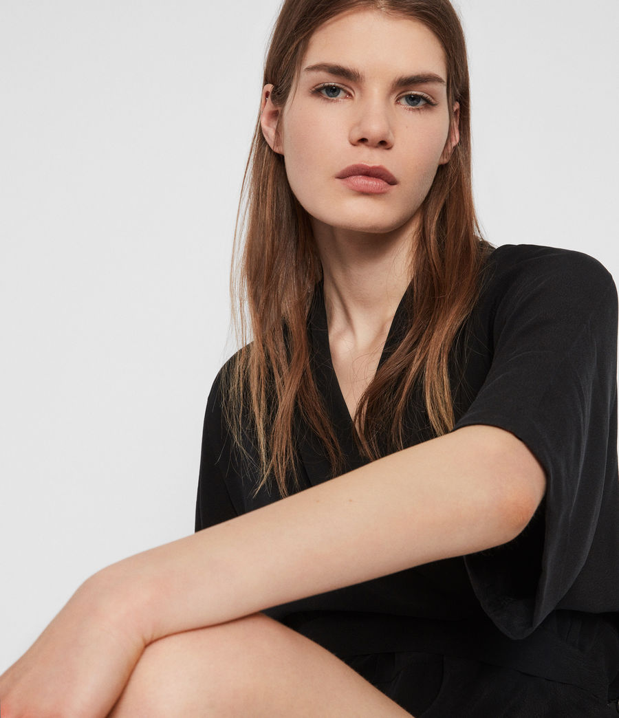 Women's Laurel Playsuit (black) - Image 3