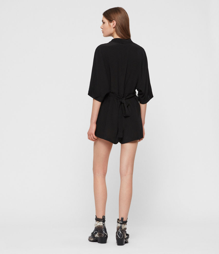 Womens Laurel Romper (black) - Image 4