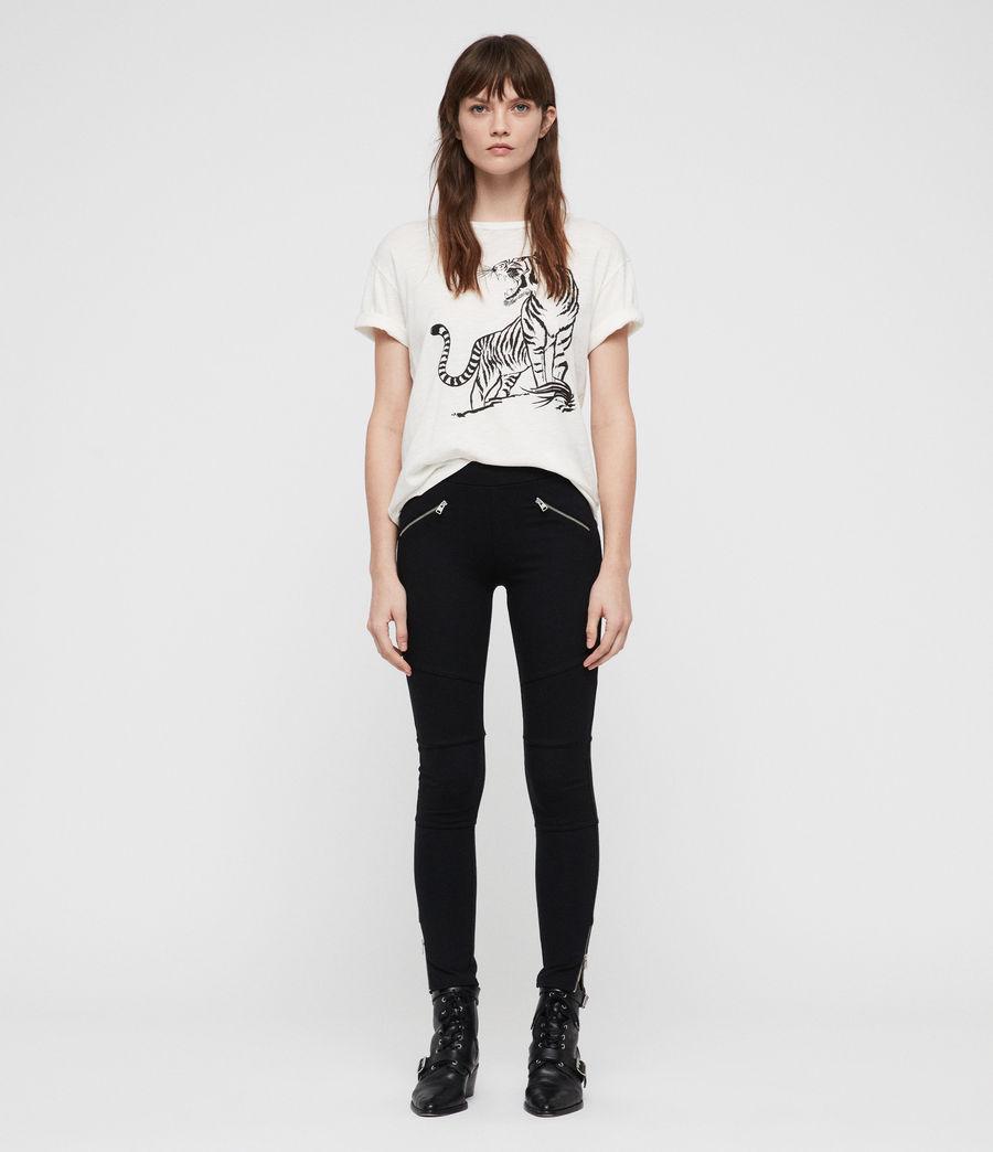 Damen Terro Zip Leggings (black) - Image 1