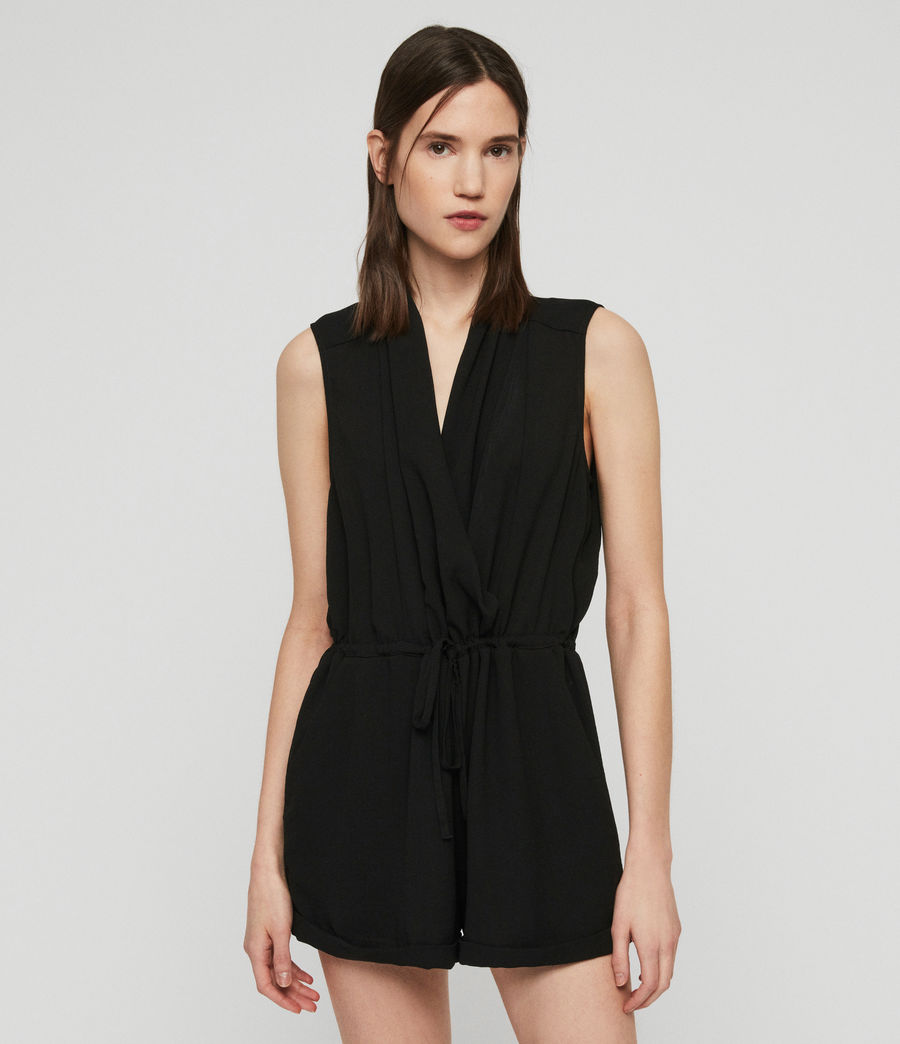 Women's Cassie Playsuit (black) - Image 1