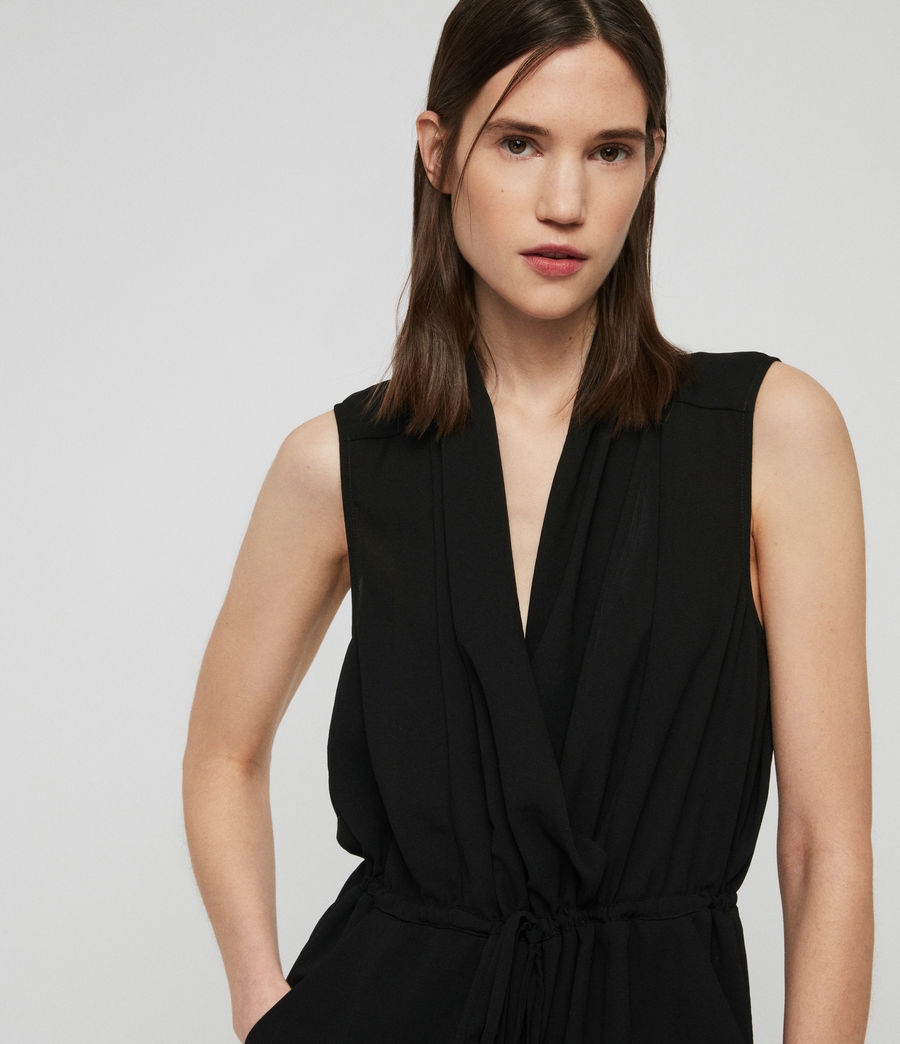 Women's Cassie Playsuit (black) - Image 2