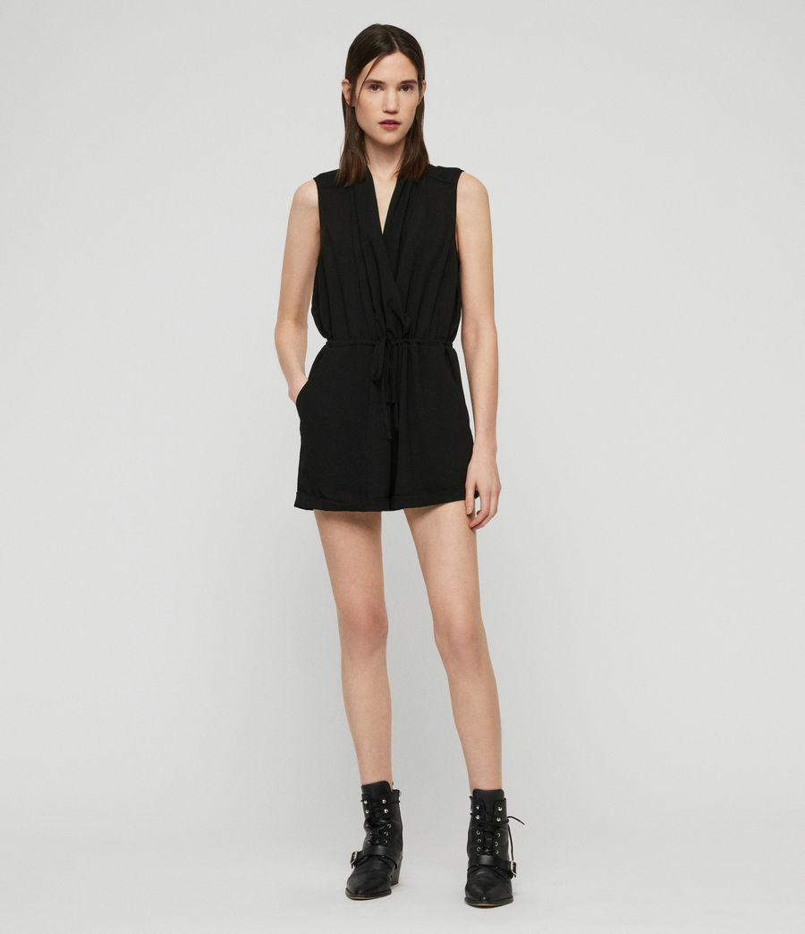 Women's Cassie Playsuit (black) - Image 3