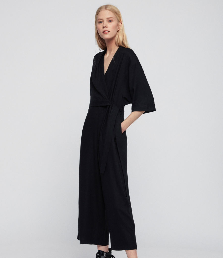 Womens Laurel Jumpsuit (black) - Image 4