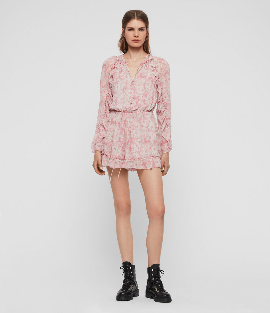 Womens Flora Rosa Playsuit (pink) - Image 2