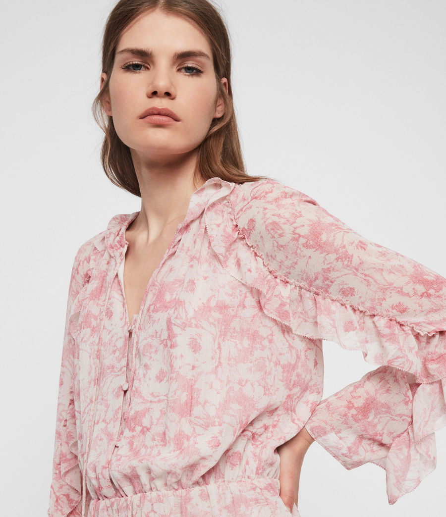 Womens Flora Rosa Playsuit (pink) - Image 3