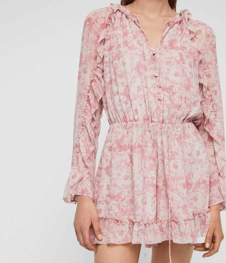 Womens Flora Rosa Playsuit (pink) - Image 4