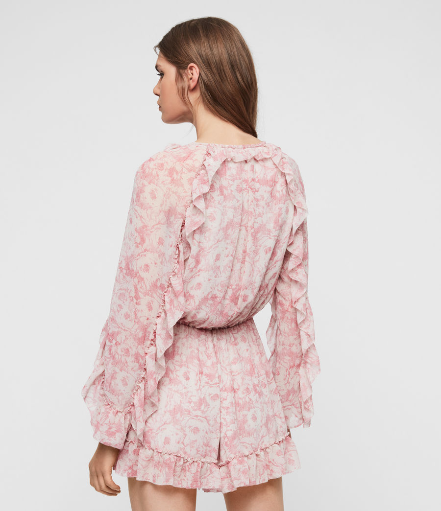 Womens Flora Rosa Playsuit (pink) - Image 5